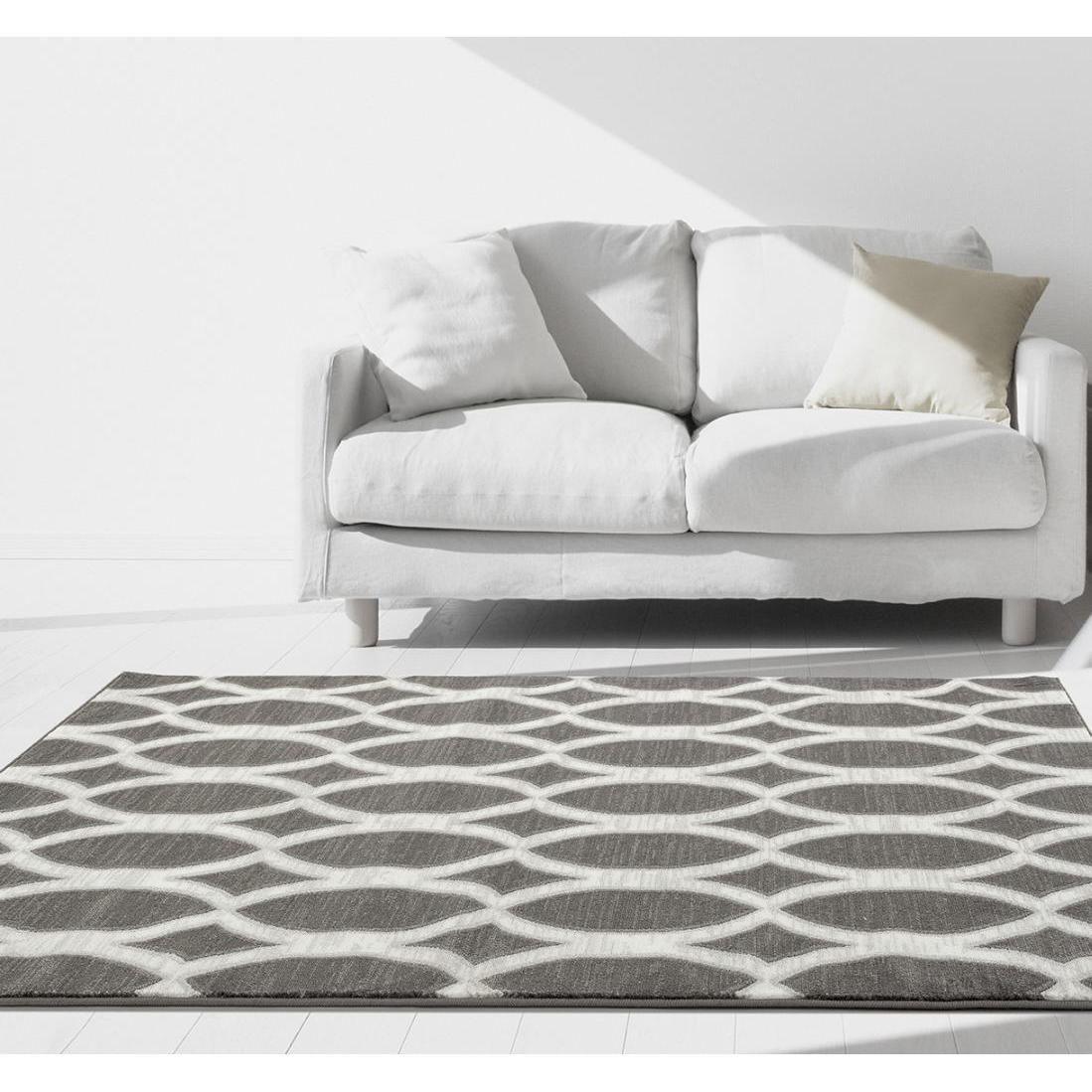 Persian rugs modern trellis grey polypropylene area rug    also