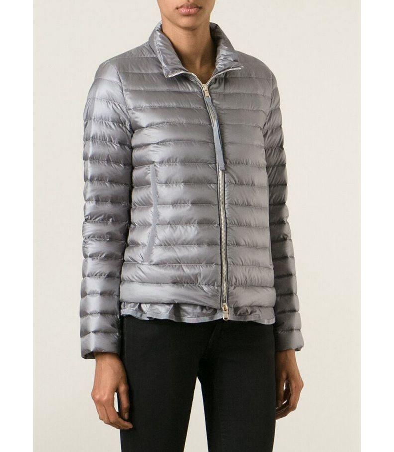 Boutique Doudoune Moncler femme BLEIN veste de printemps col gris pas chere ae7b742ddce