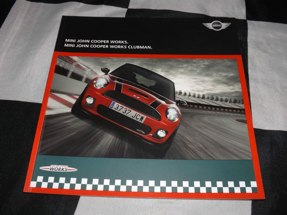 Mini John Cooper Works Sales Brochure Prospekt English 2008 Cooper