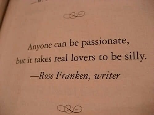 It takes real lovers..