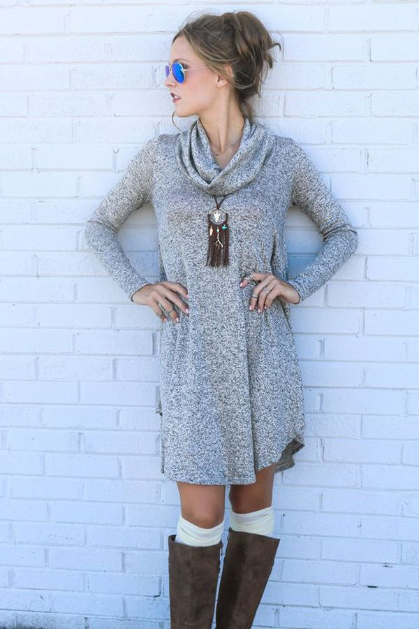 952efa09f83 20 Style Tips On How To Wear A Sweater Dress This Winter