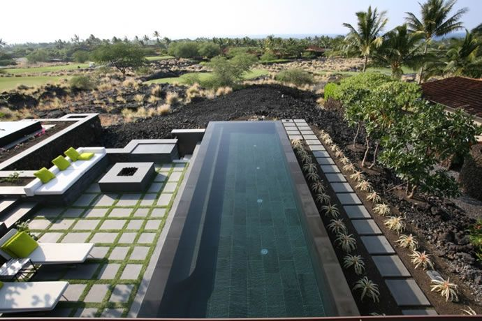 Pool. Beautiful Houses: Kona Residence in Hawaii