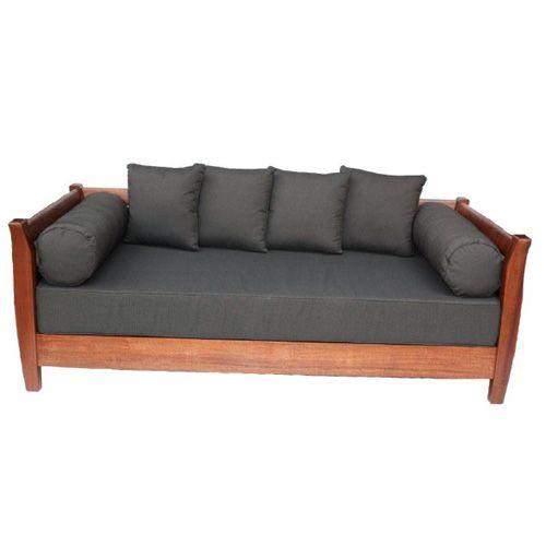 Outdoor Furniture. \'Kuta\' Outdoor Daybed. Kwila timber with Sunproof ...