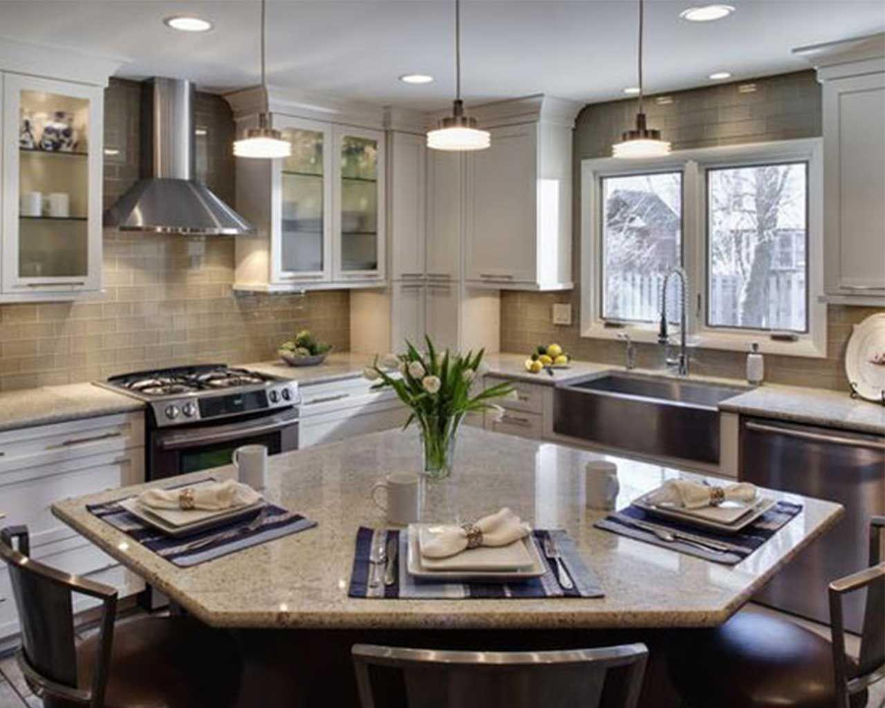 U-förmige küchendesigns l förmige küche zähler ungerade geformte küchen ideal küche layout
