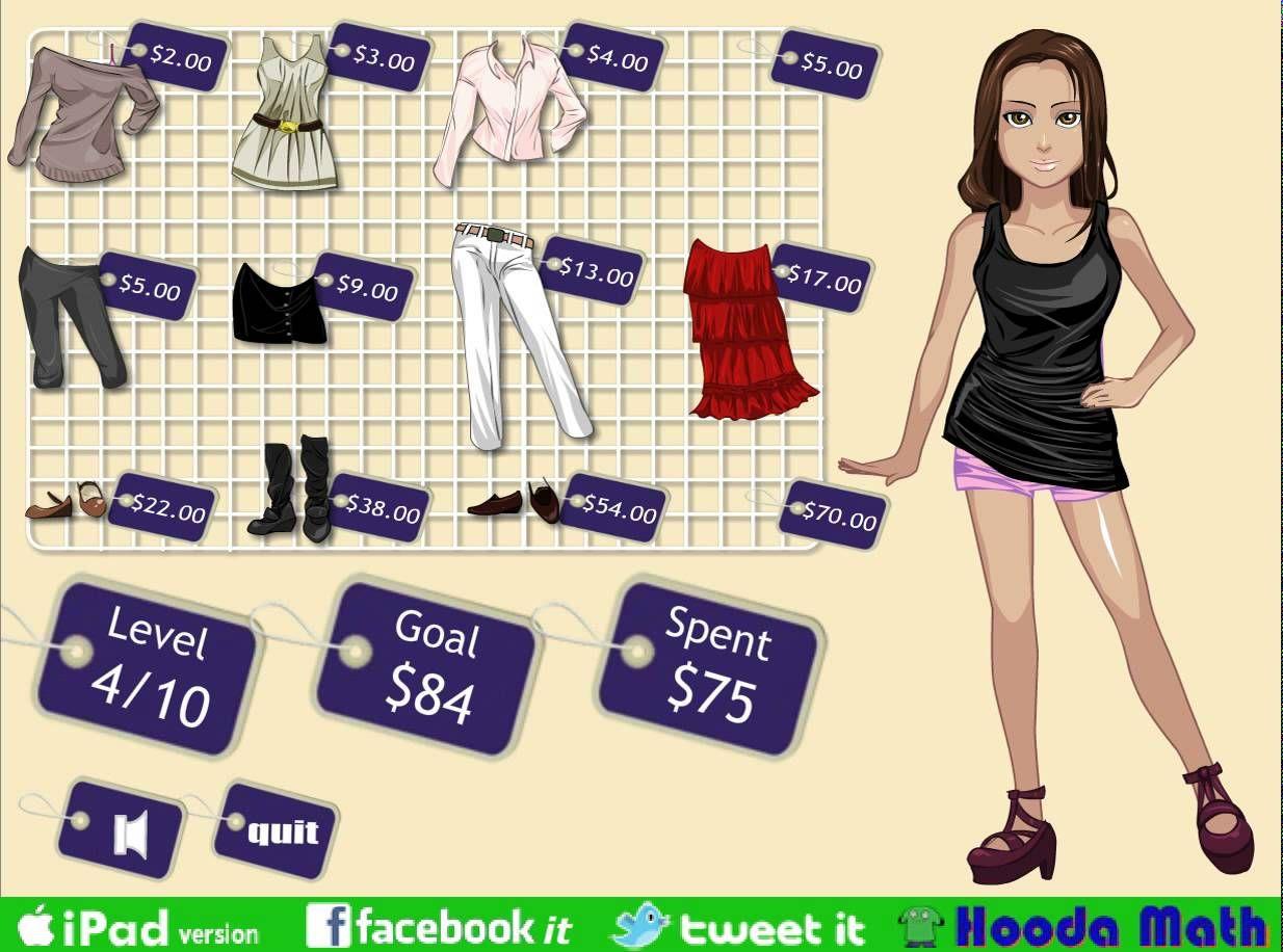 Cool Math Games For Girls Dressup Math Game ♥ Fun math