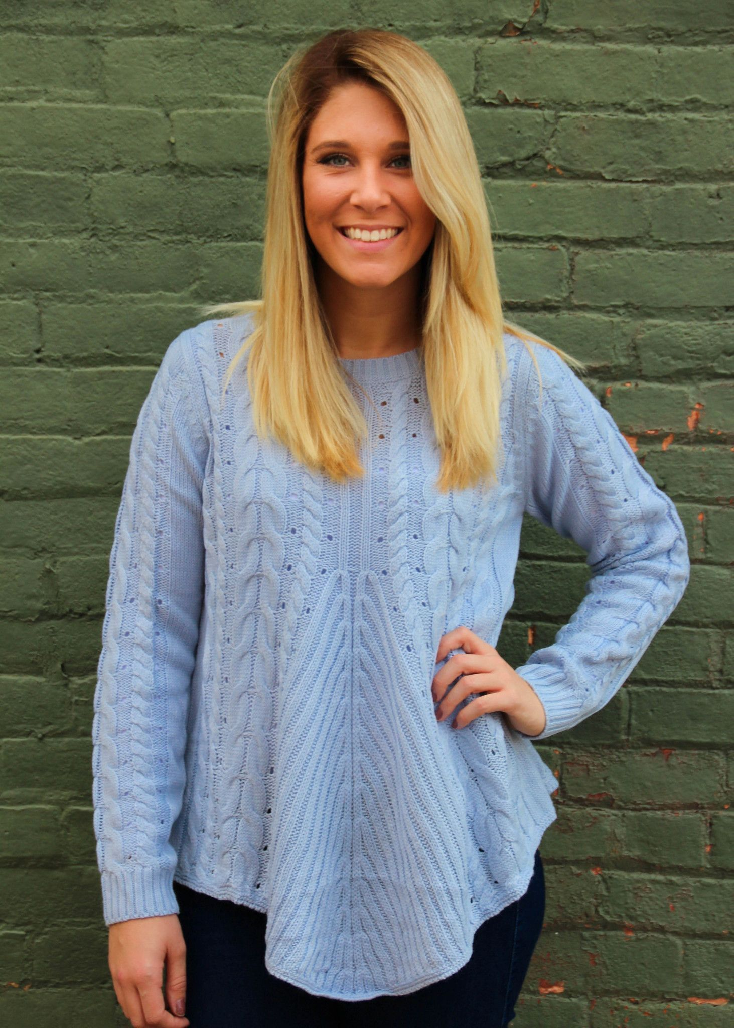 Light Blue Lace Back Sweater | Products | Pinterest | Products