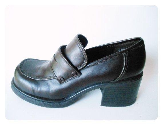 Chunky Heel Loafers