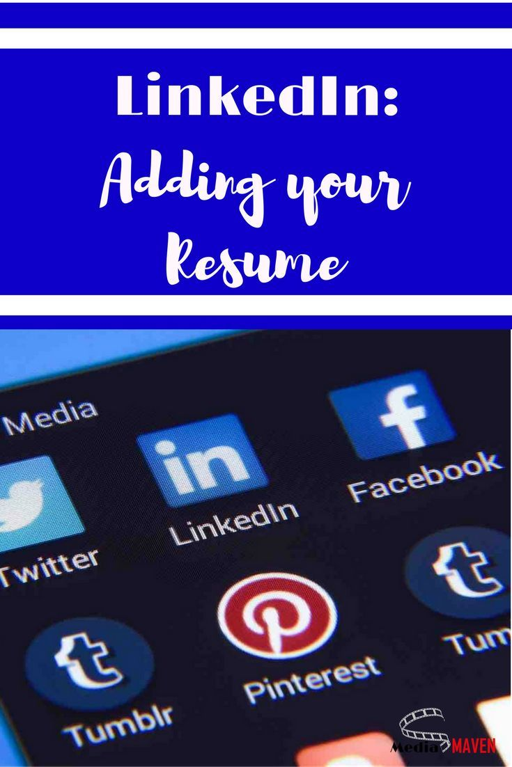 How to add a resume to linkedin using facebook for