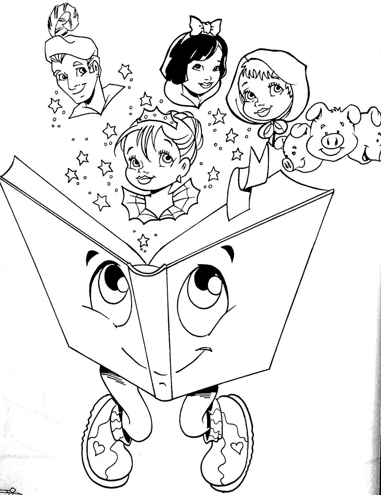 Día internacional del libro: Dibujos para colorear   CLIP DIBUJOS ...