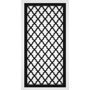 Veranda 4 Ft X 8 Ft Black Privacy Square Vinyl Lattice Framed 222602 The Home Depot In 2020 Decorative Screen Panels Decorative Screens Decorative Fence Panels