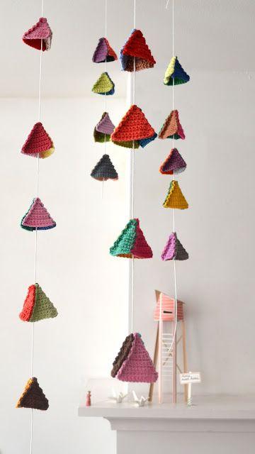 ingthings: Pirámide crochet DIY, triángulo, de montaña, lo que les gusta llamarlo ..