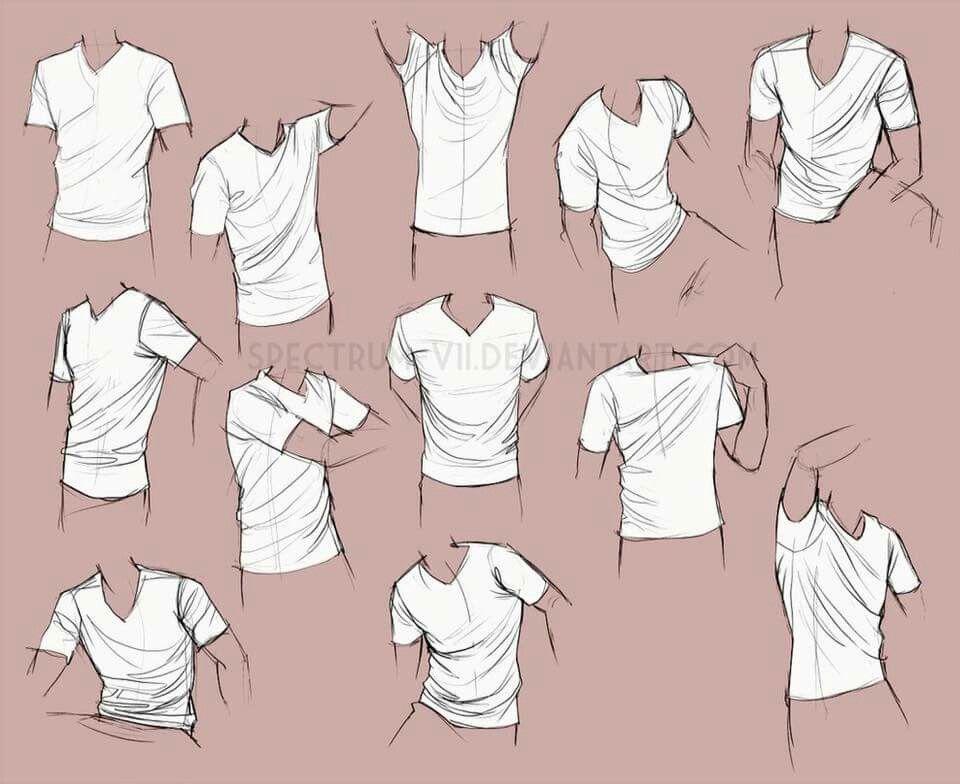 Vẽ quần áo, nếp gấp quần áo cho nam - How to draw clothes ...