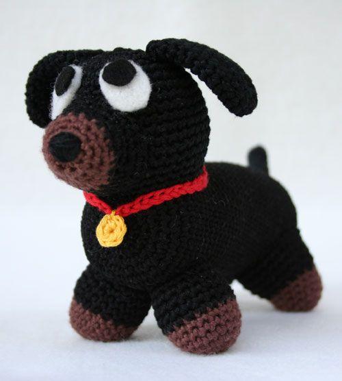 Cane bassotto amigurumi schema in italiano | Amigurumi cane | Pinterest
