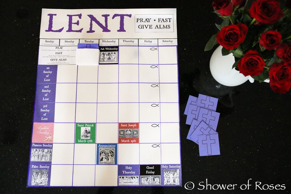 Lenten Calendar for Children Going to use her free printables to