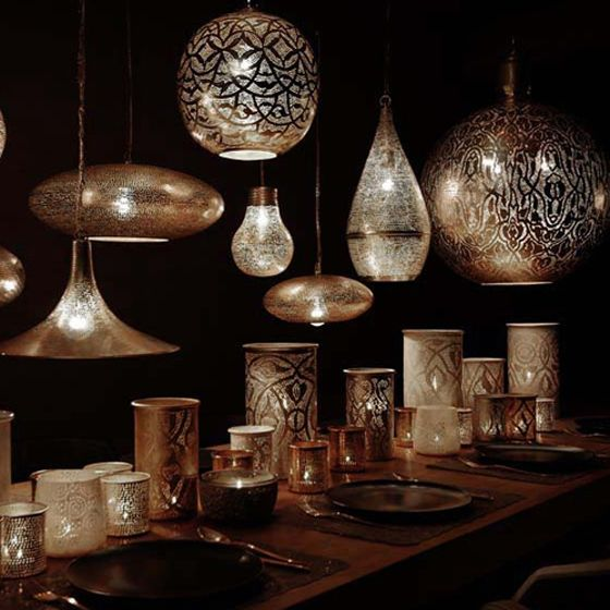Exquisite Silver Coated Egyptian Pendant Lights Pursuitist