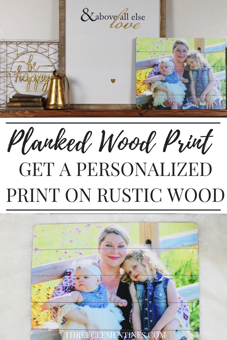 Beautiful wood plank print from photography.com is perfect for mantel decor! #mantel #decor #plankedwood #print #farmhouse #rustic