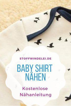 kostenloses Schnittmuster und Nähanleitung für ein Baby-Shirt 50/56-62/68-74/80-76/92 | Stoffwindelei.de