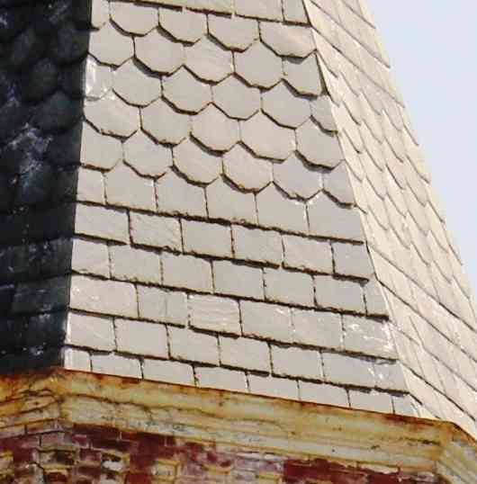 Slate Roof With Detail Roofing Roofing Systems Slate Roof