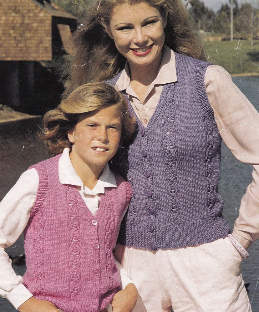 Vintage Knitting Pattern Instructions to Make a Ladies & Girls ...