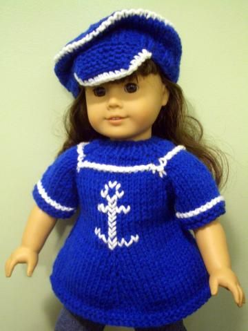 Knitting Pattern Beginner Level For American Girl 18 Inch Doll By