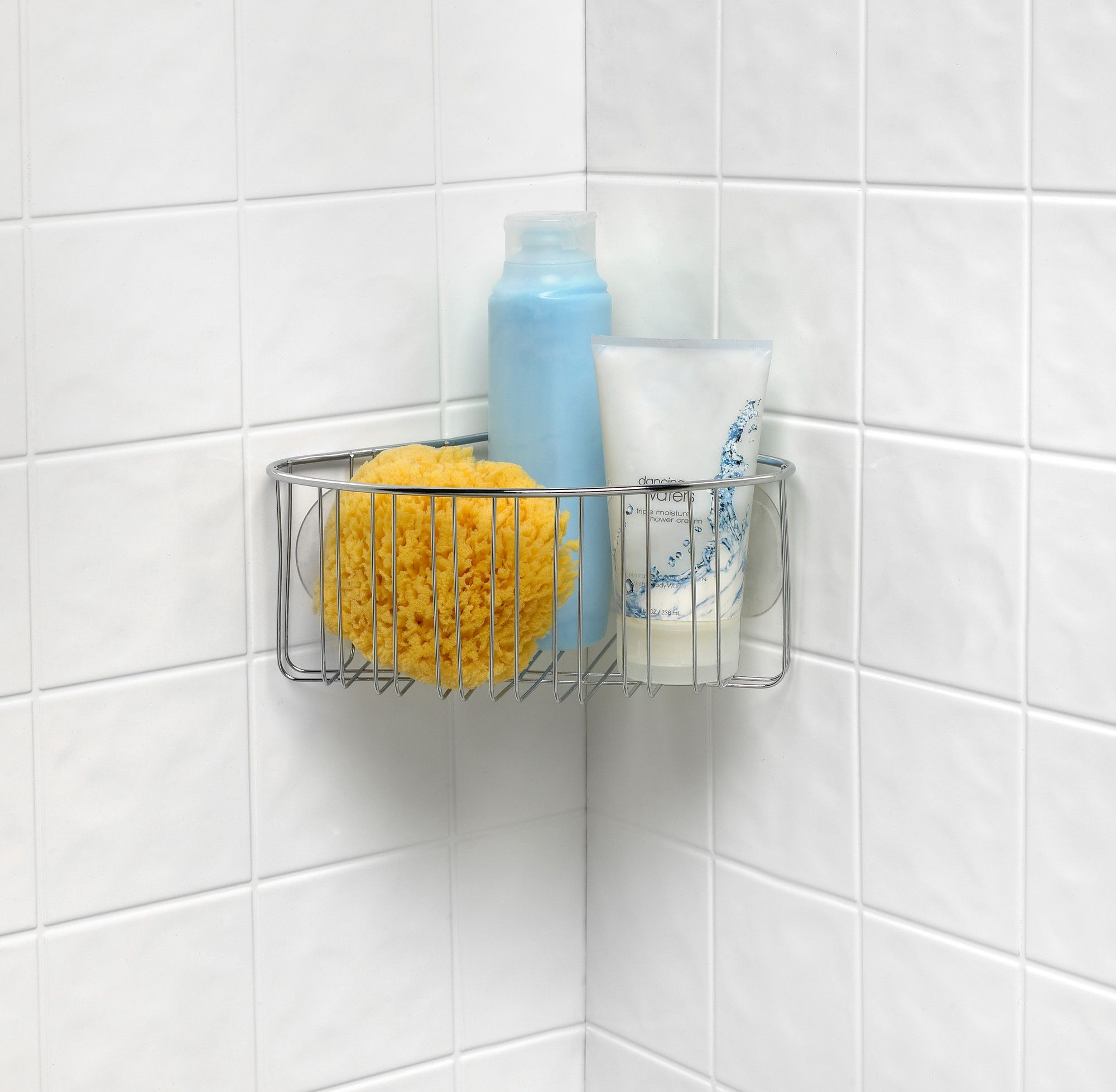 Contempo Stainless Steel Wall Mounted Corner Shower Basket   Corner ...