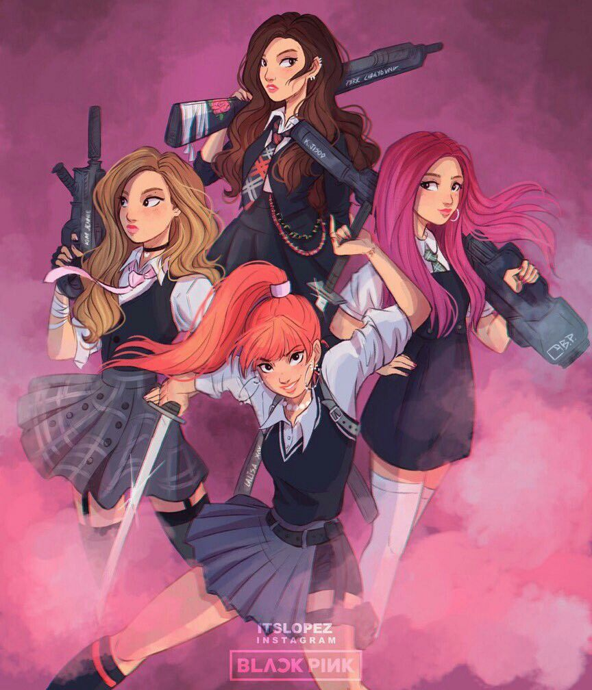 Blackpink As If Its Your Last Fan Art With Images Black