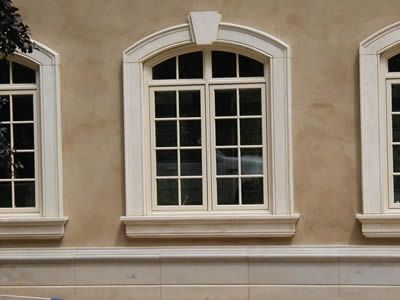 Stucco Trim Details at Windows | Custom Detailed Trim and Design ...