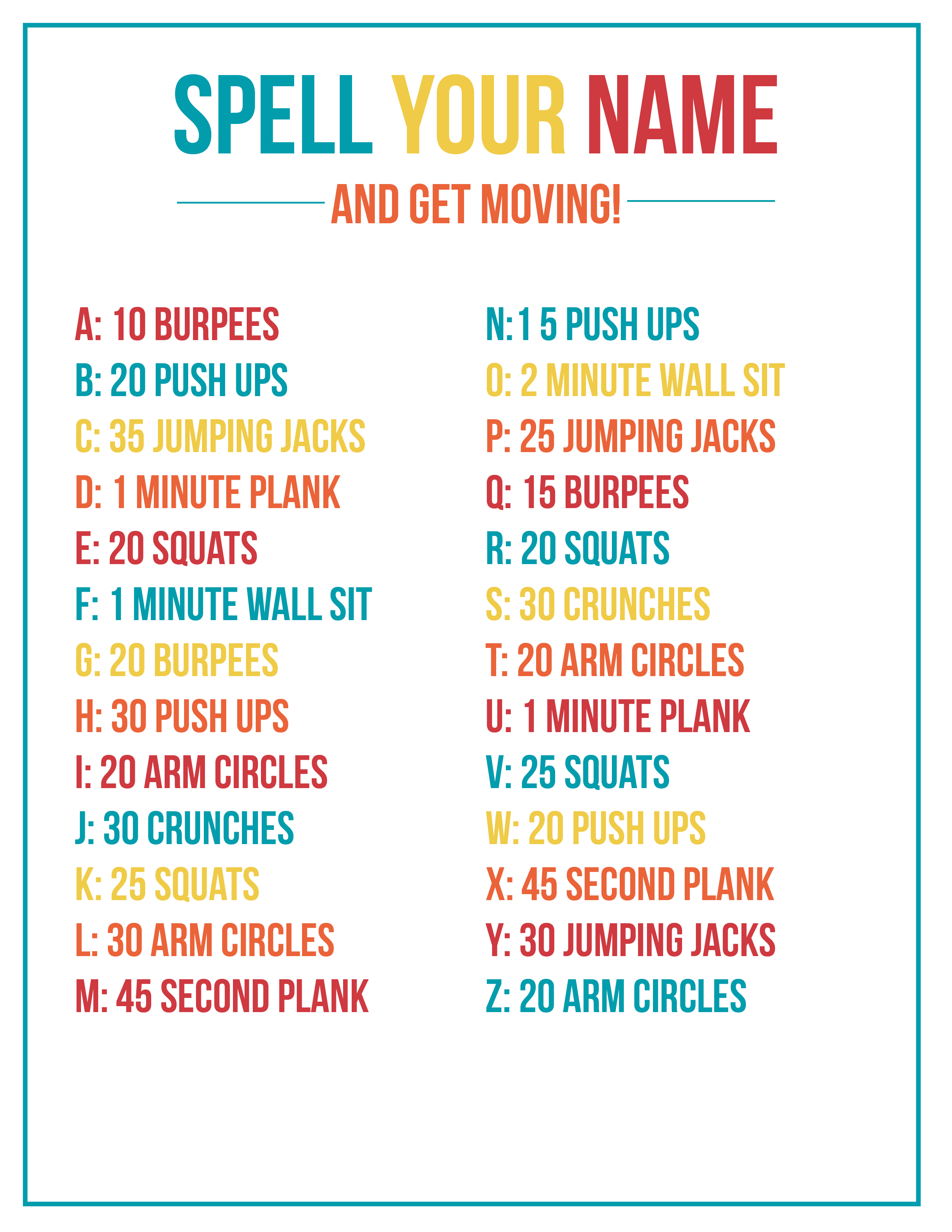 image regarding Simply Fit Board Printable Workouts called Your Track record Exercise + No cost Printable Me Season Suggestions for Mothers