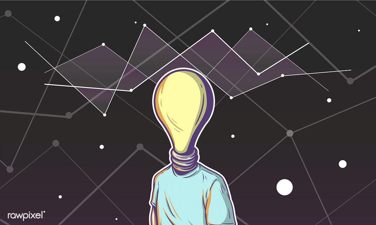 Illustration Of A Light Bulb Head Libre De Vectores Ilustraciones