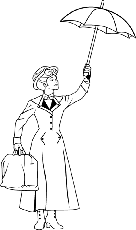mary poppins coloring pages book - photo#2