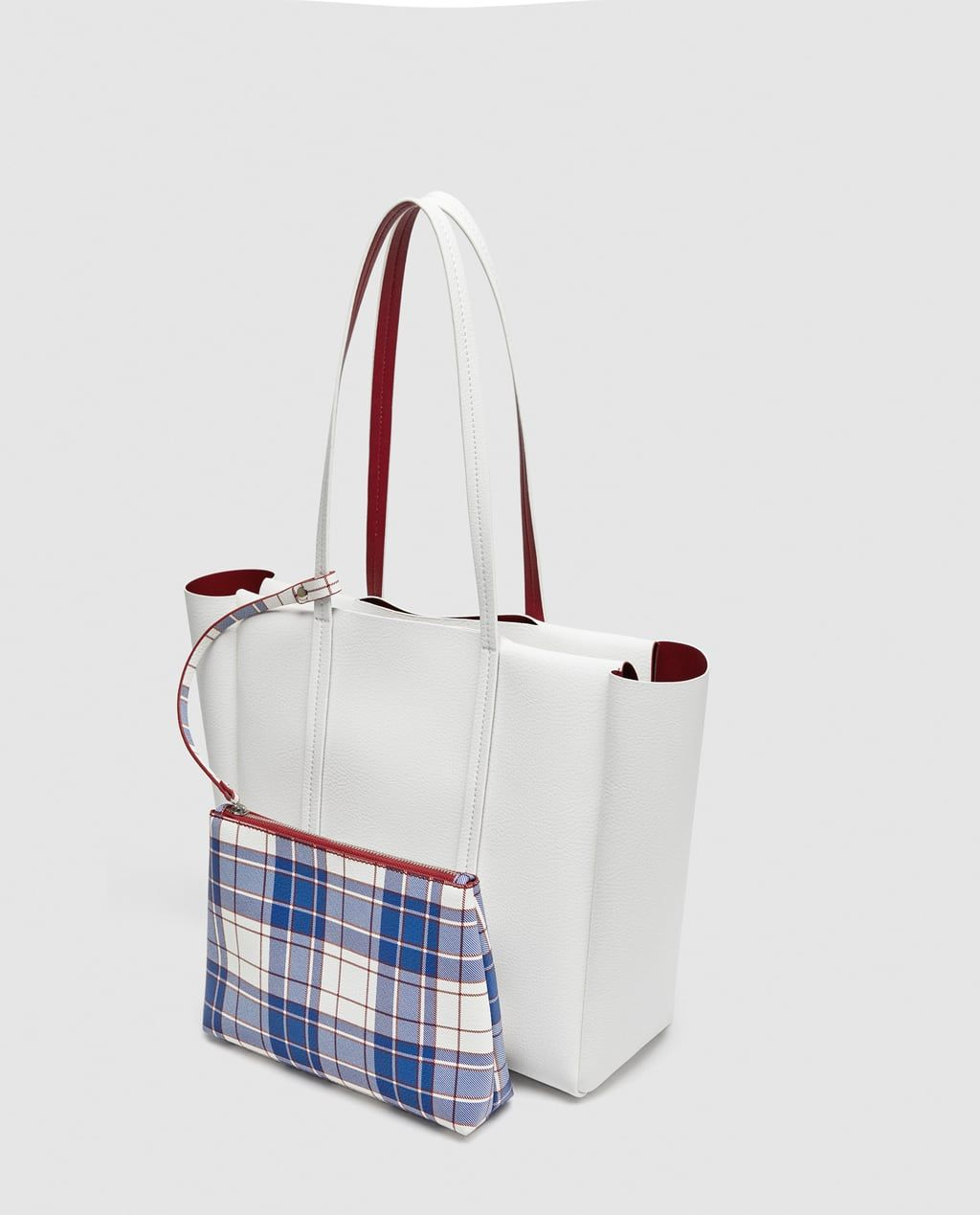 95075a8bd28 REVERSIBLE TOTE BAG WITH VERTICAL LINES | BAGGS | Reversible tote ...