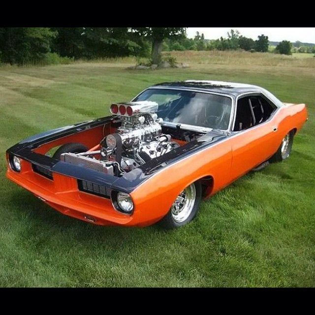 Hot Wheels - Oh yeah igers if you are going to build that muscle car goodness then a big block power plant with a roots blower is a prerequisite! Hemi all day! Tag the owner. #hemi #musclecar #americanmuscle #supercharged #boost #Cuda #plymouth #prostreet #protouring #raked #stance #streetrod #hotrod #streetmachine #lowfastfamous