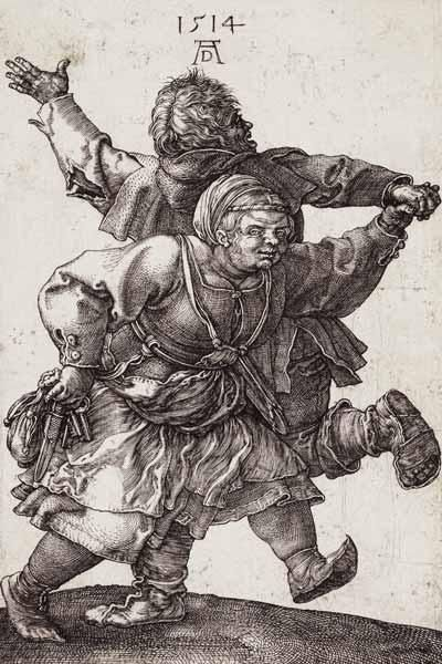 Albrecht Dürer - Dürer / Dancing Peasant Couple / 1514