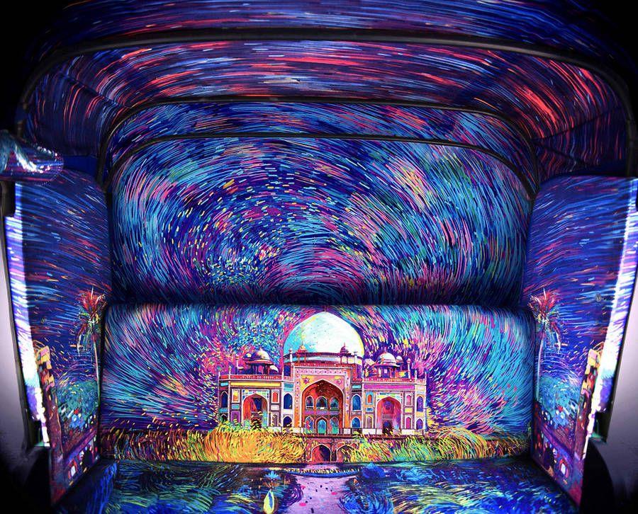 Colorful Starry Rickshaw Fabric Design – Fubiz Media #art #journal #inspiration www.agencyattorneys.com