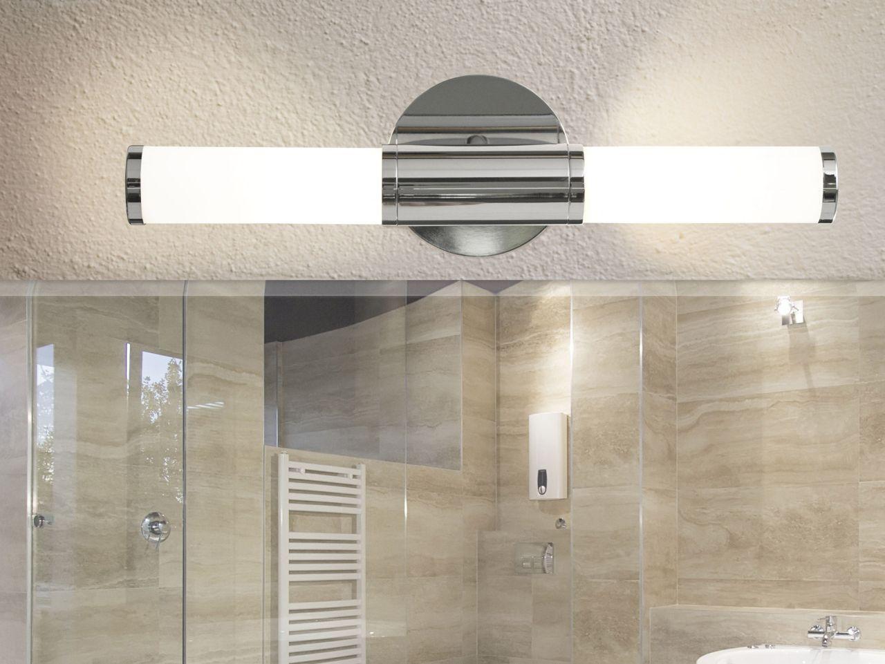 Spiegelverlichting deze lamp kunt u zowel boven als naast de