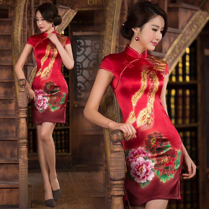 Gold-phoenix-red-peony-silk-cheongsam-short-Chinese-bridal-wedding-dress-SXJ-QP15006-428-001.jpg (800×800)