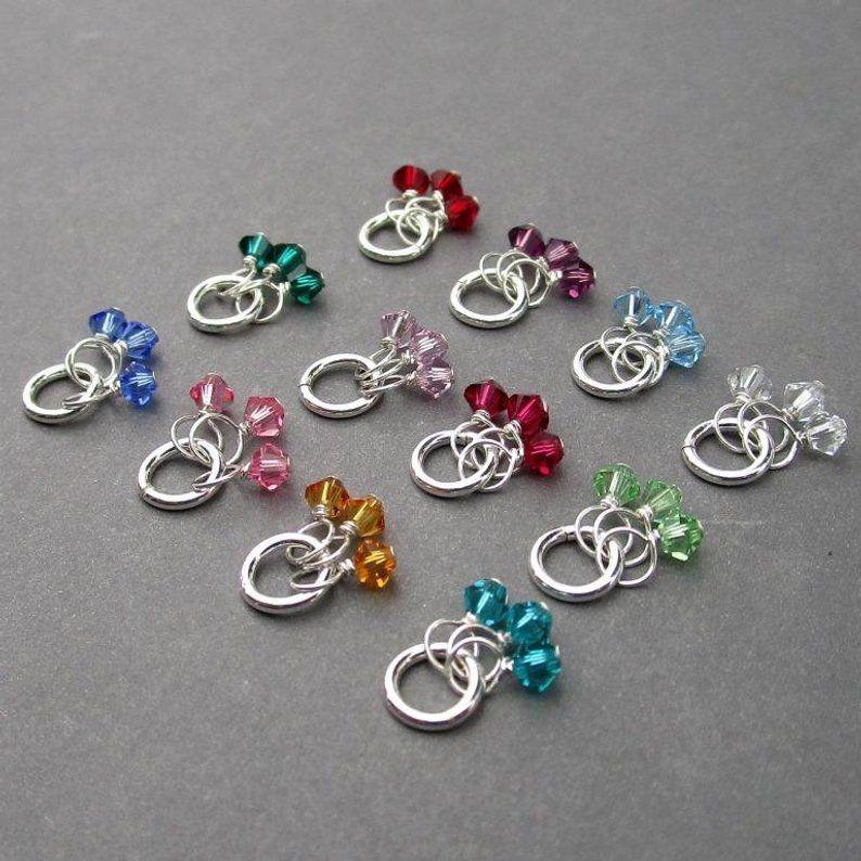 Swarovski Birthstone Charm Earring Charm Swarovski Crystal Bicone Trio Charms Personalized Jewelry Charm For Bracelet Necklace Charm Charms Swarovski Birthstone Charms Personalized Jewelry