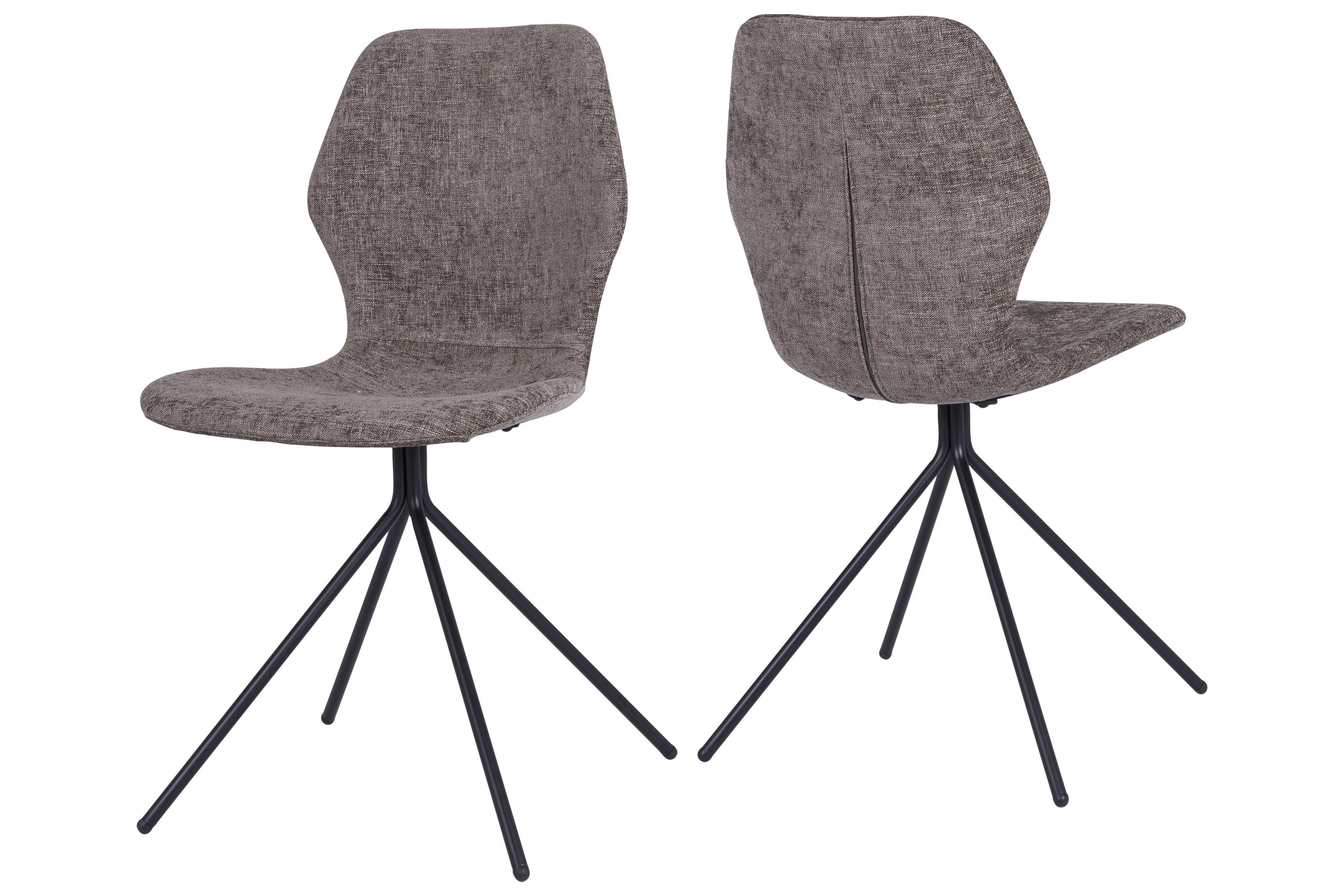 Stühle modern esszimmer schwarz  Stuhl Hellbraun/ Schwarz Woody 112-00830 Stoff Modern Jetzt ...