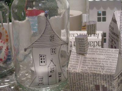KirstenK_christensen - House in glass drawn on bookbinding film.