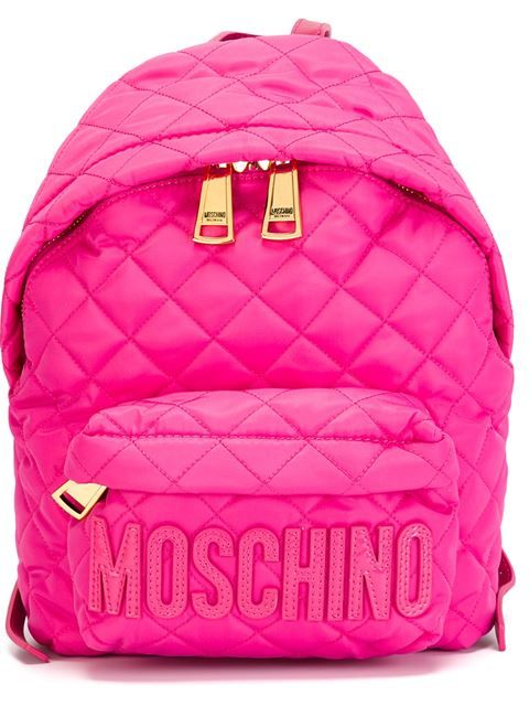 7651c7c7368 Shop Moschino quilted backpack in Suit from the world s best independent  boutiques at farfetch.com. Shop 300 boutiques at one address.