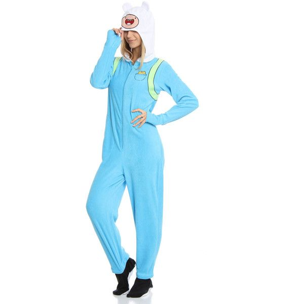 This Adventure Time gear is officially licensed from Cartoon Networku0027s show and is perfect for making your own Finn and Jake costumes.  sc 1 st  Pinterest & UnderGirl Unisex Finn Adventure Time Footed Onesie ($15) ? liked on ...