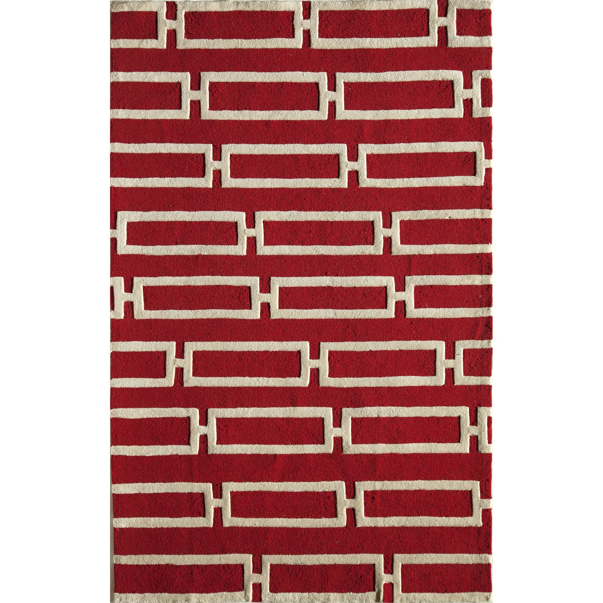 Woven Accents Amore Gold Geometric Area Rug (8' x 10') (