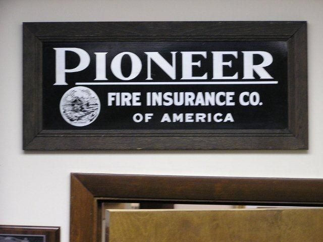 Pioneer Fire Insurance Co Of America Fire Signs Eaton Square