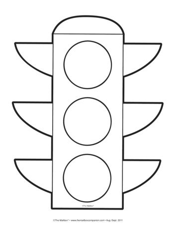 Traffic Light Lesson Plans The Mailbox Traffic Light Coloring Pages Quiet Book Patterns