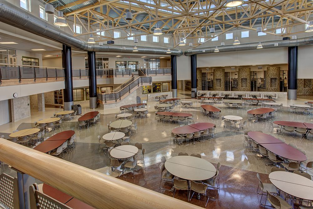 The New Kellam High School Commons Area The Entire School Is Designed For Flexibility After Stud Interior Architecture Design Performing Arts School Design