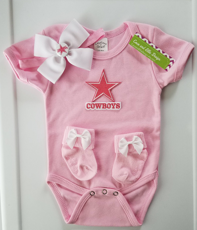 6bb01c94d baby girl dallas cowboys outfit-dallas cowboys bodysuit-dallas cowboy baby  gift-baby cowboys-dallas cowboys for baby-cowboys for girl by  CocoandEllieDesign ...