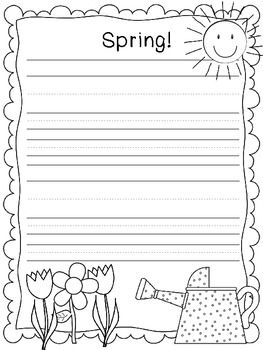Fun Spring Writing Paper  Classroom  Spring