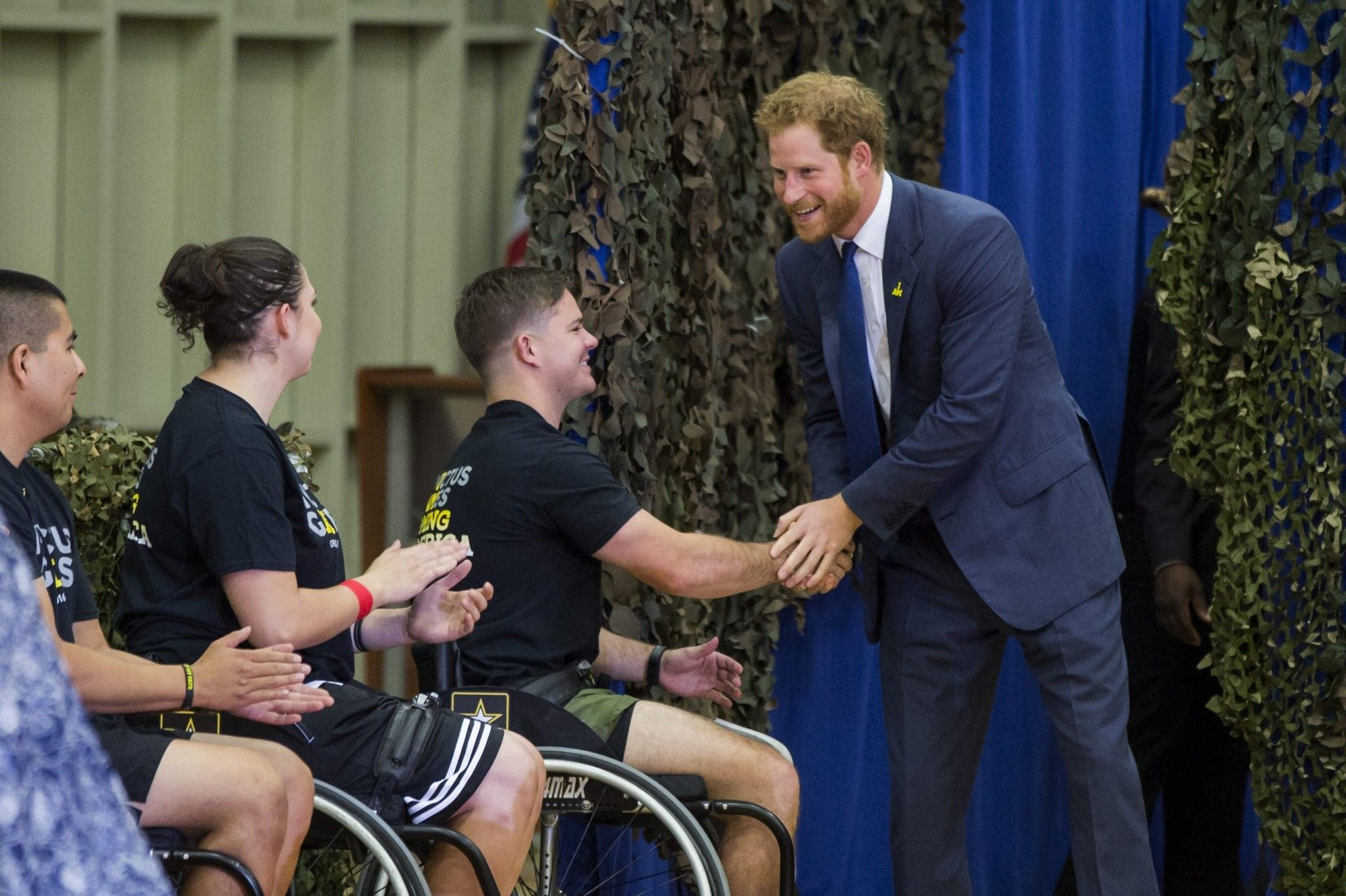 Prince Harry promoting Invictus  games in DC