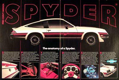 1980 Chevy Monza Spyder Sport Coupe Original Vintage Advertisement