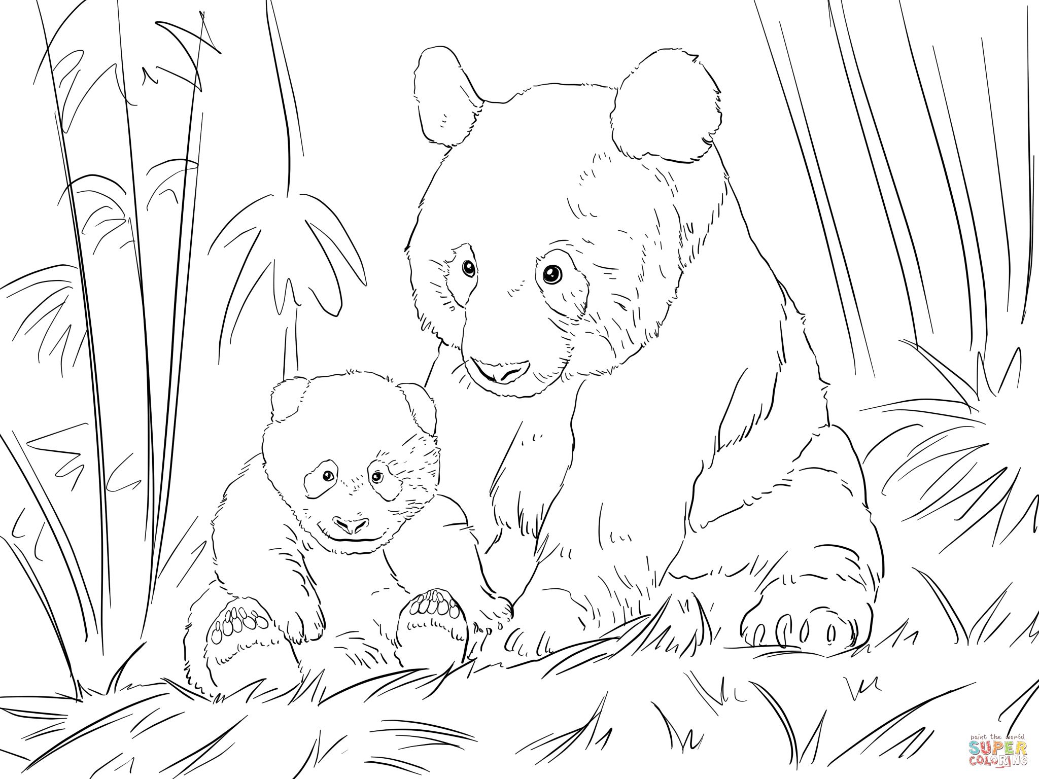Cute Panda Family Super Coloring Panda Coloring Pages